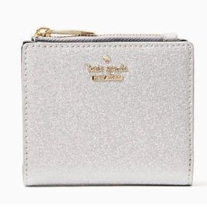 NWT Kate Spade Burgess Court Adalyn Silver Wallet